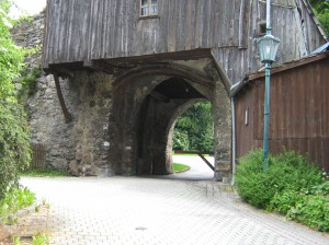 altes Stadttor von Rotomann, durchfahrt verboten .. h hi